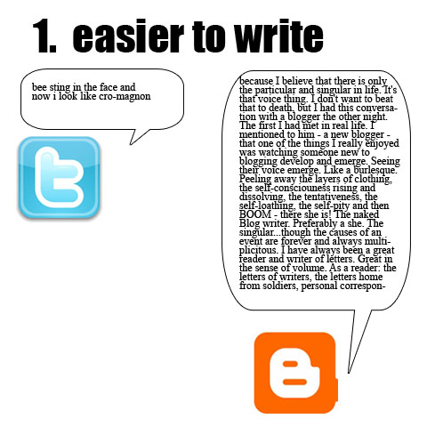 1. easier to write