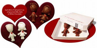 Shiny Shiny: Chocolate. Wii. Mii. Romance. What more could you need?