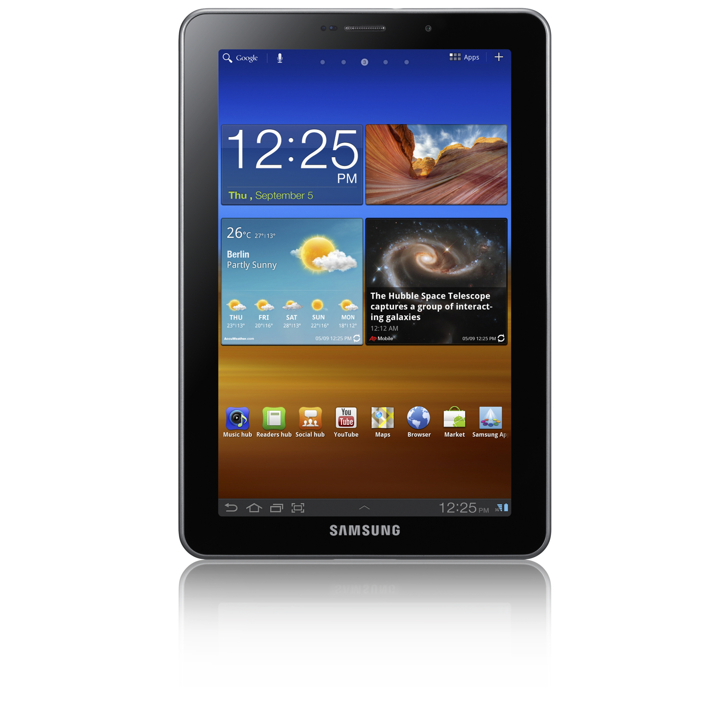 samsung unveils the galaxy tab 7 7 a very cool tablet. Black Bedroom Furniture Sets. Home Design Ideas