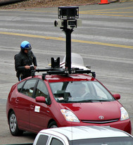 Google Street View car pulled over