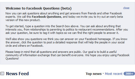 Question: Why has Facebook introduced Facebook Questions ...