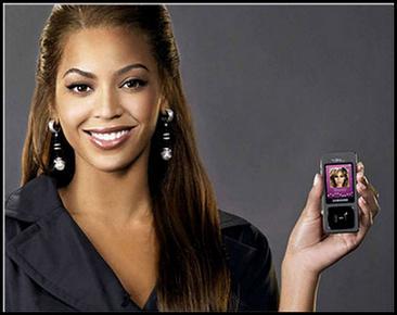 Samsung и Beyonce продвигают F300 Ultra Music.
