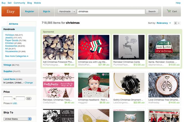 Etsy is probably the best place online for finding home-made or vintage ...