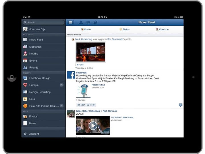 REVIEW: The Facebook app for the iPad