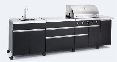 Landmann BBQ kitchen with sink, £1,345 from InternetGardener