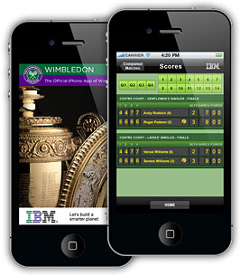 The official Wimbledon iPhone app