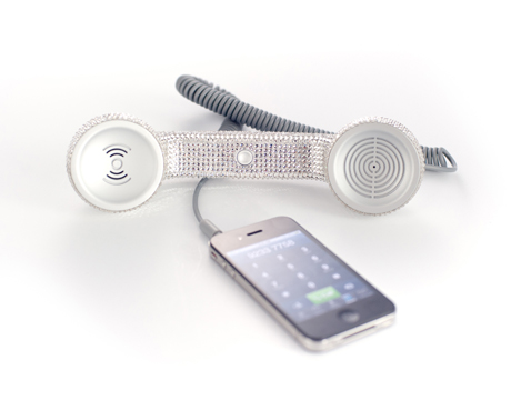 Native Union Swarovski Crystal Pop Phone in Silver