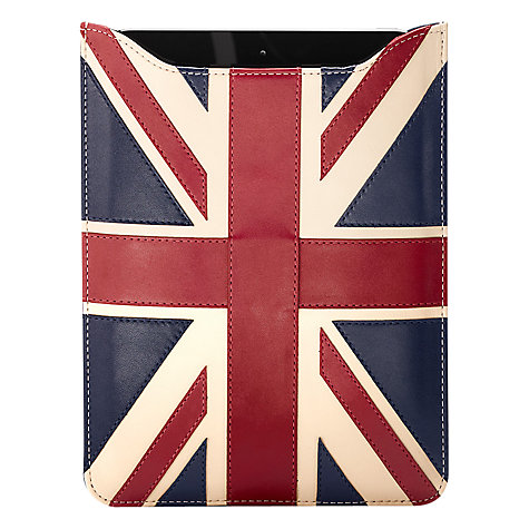 Aspinal of London Brit Sleeve, Red/White/Blue £99