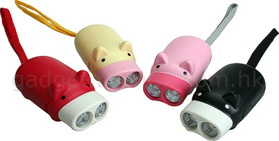 Shiny Shiny: Piggy Torches - cute LED flashlights :  flashlight cute pig handheld