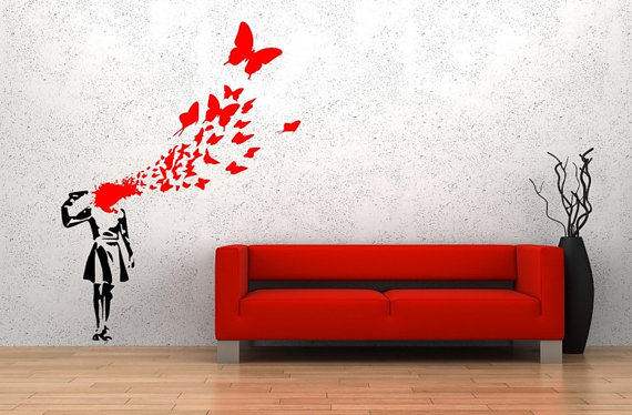 Banksy 'Butterfly Girl'
