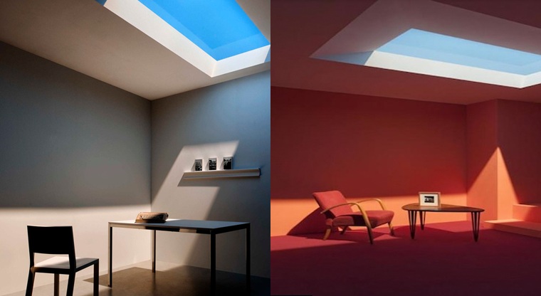 this fake coelux window recreates sunlight from different places. Black Bedroom Furniture Sets. Home Design Ideas