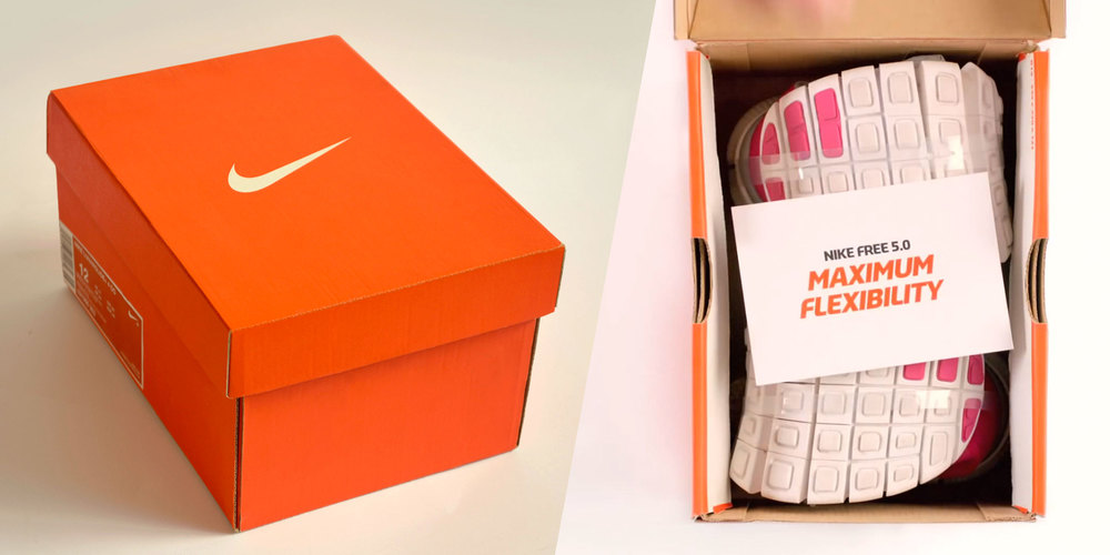 Nike Free Box is 1/3 of the size