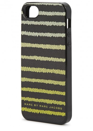 Marc Jacobs striped black and yellow iPhone case – £30