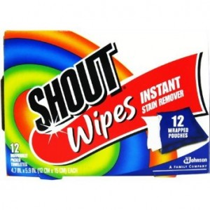 Shout stain removal wipes