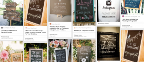 wedding hashtags on Pinterest