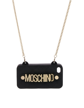 Moschino quilted cross-body iPhone case