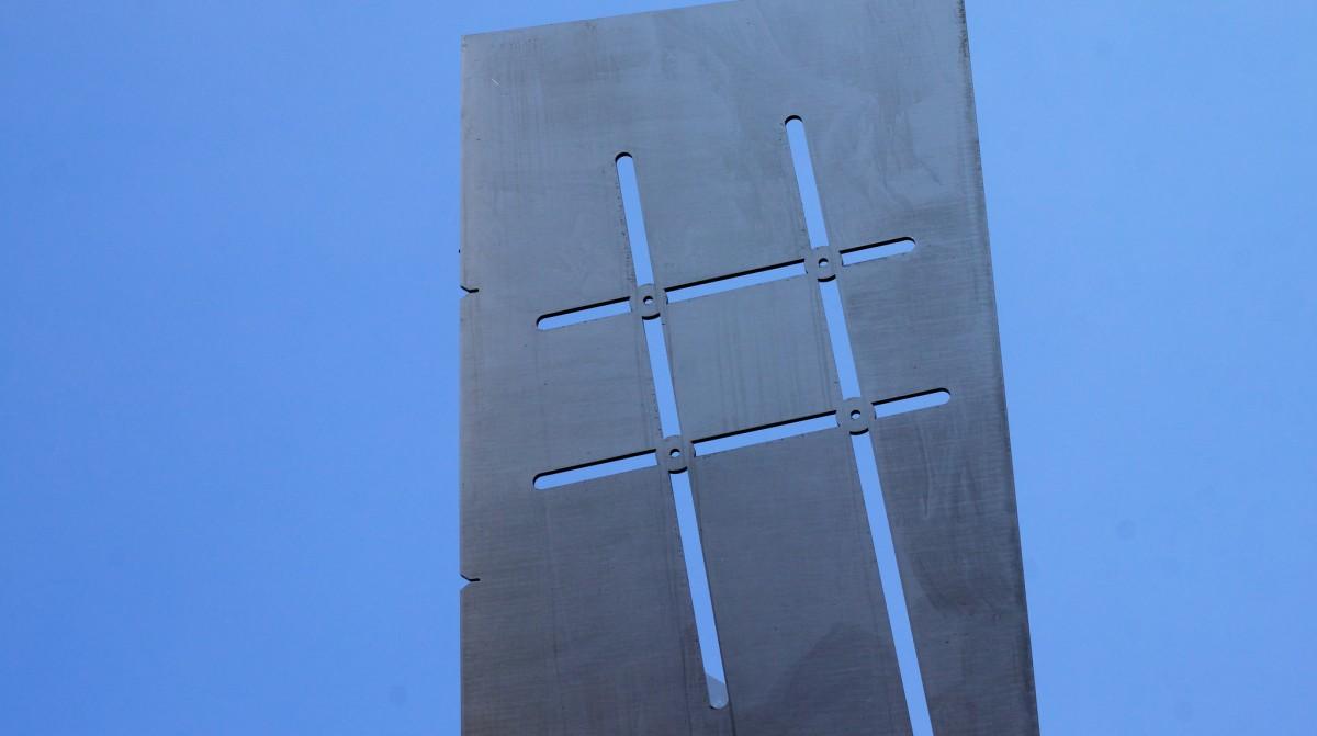 Hashtag sculpture