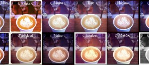 Instagram filters on coffee photo