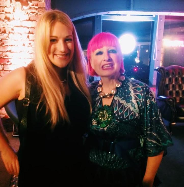 Lauren Bravo with Zandra Rhodes