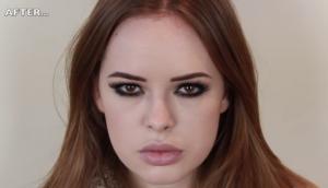 Tanya Burr Lana Del Ray make-up look