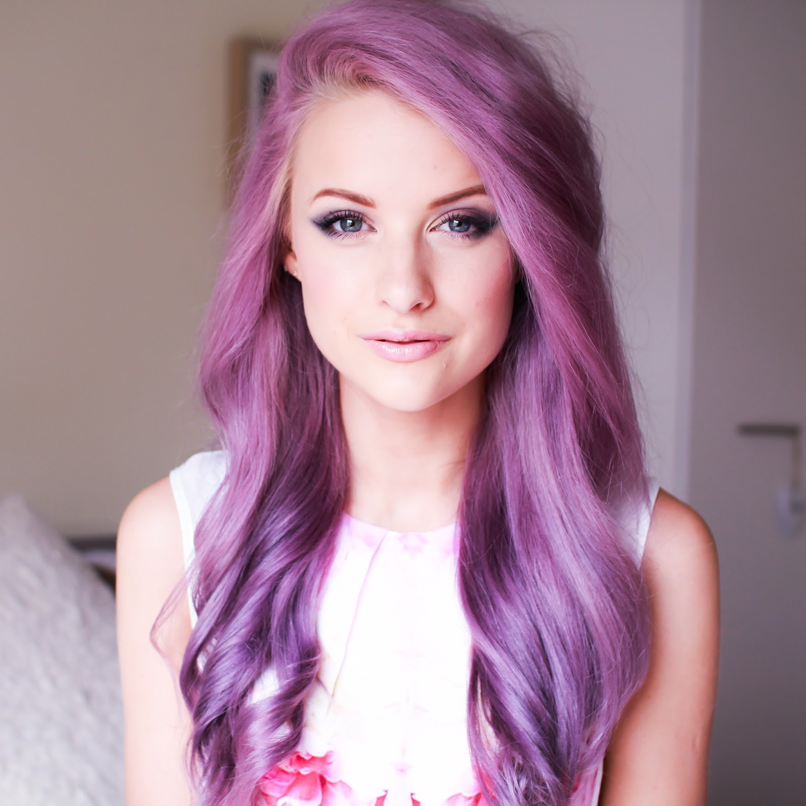 Girls With Light Purple Hair Tumblr Hair Purple Skin Light skin