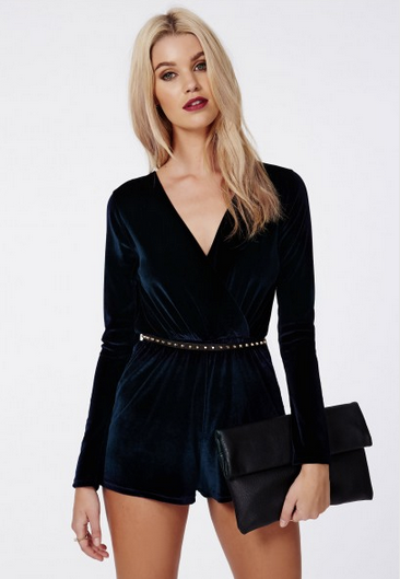 Velvet playsuit