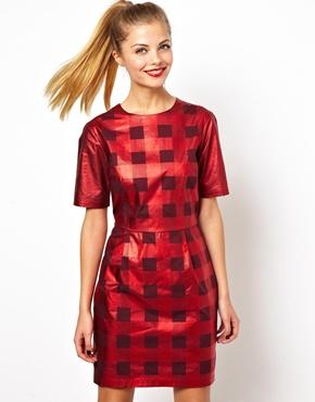 ASOS-red-metallic-checked-dress