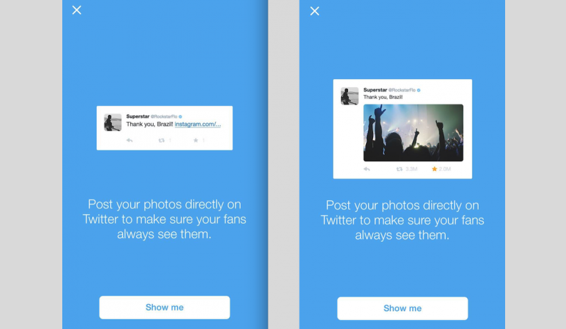 twitter doesn t want people sharing instagram photos