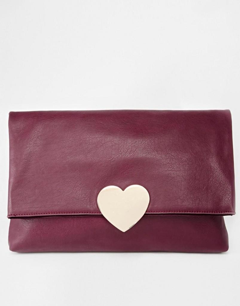 Love Heart clutch bag