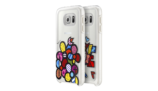 Romero Britto (pop artist) cases for the Samsung Galaxy S6