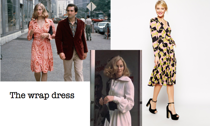 Wrap dress Taxi Driver collage