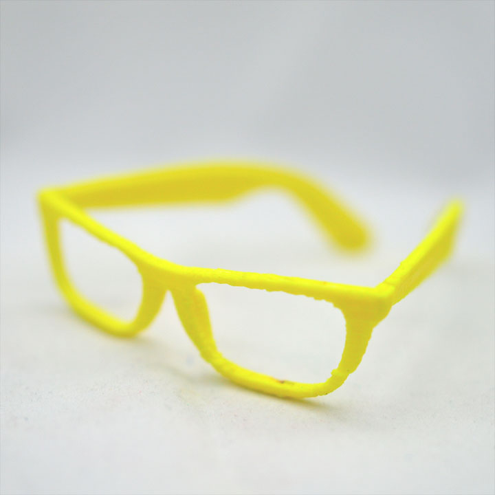 Yellow Glasses - 3D Printed