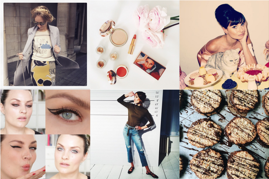 Favourite food, fashion and beauty Instagrammers