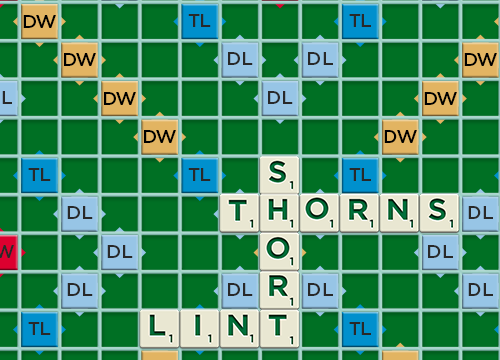 Interesting apps for when you're bored: Scrabble.