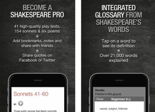 Interesting apps for when you're bored: Shakespeare Pro.