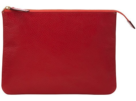 Red zip tablet purse John Lewis