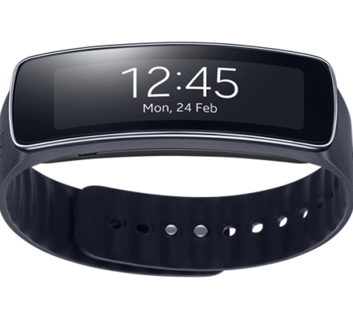 Cheap smartwatches: Samsung R3500 Gear Fit Smart Watch.