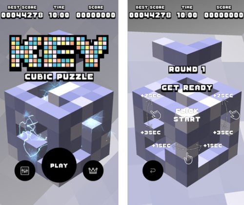 New iPhone games: KEY Cubic Puzzle.