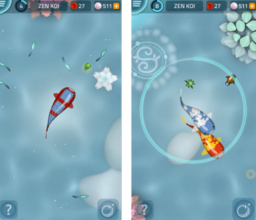 5 of the best new iphone games shinyshiny for Koi fish games