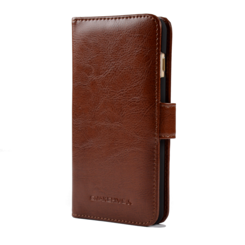 Snakehive Tan Leather iPhone 6 Plus Wallet