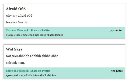 Bad Kids' Jokes Tumblr