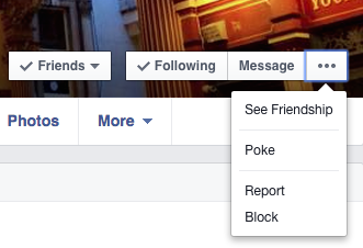 Facebook block alternative step 1