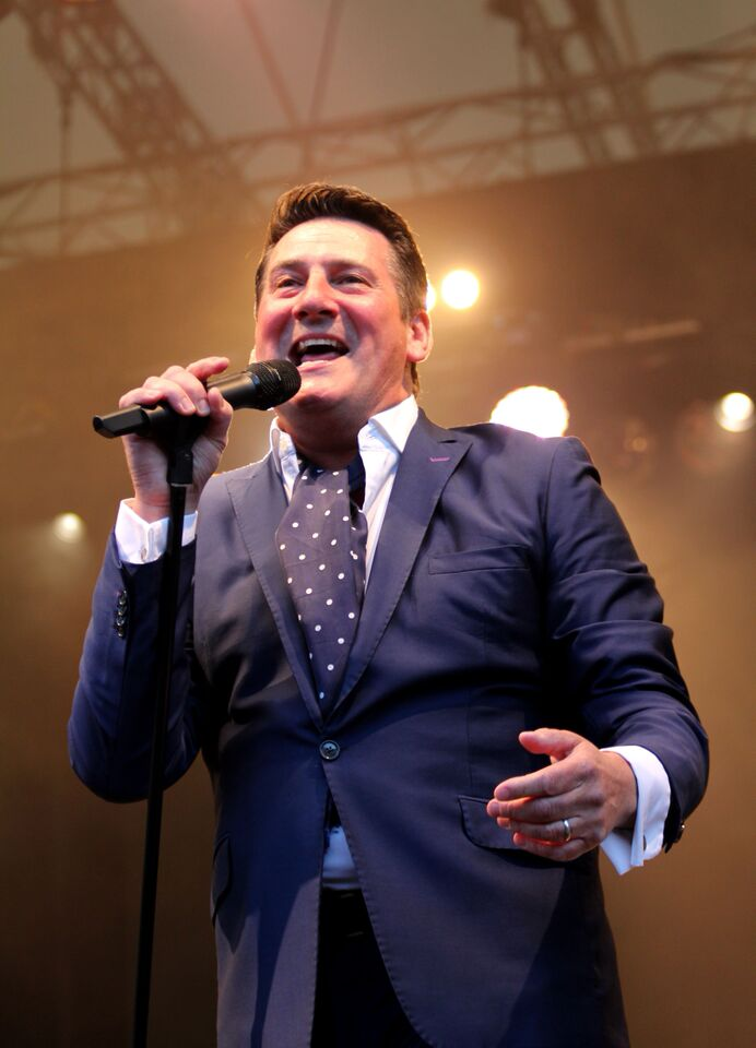 Spandau Ballet's Tony Hadley performing at the Eden Project