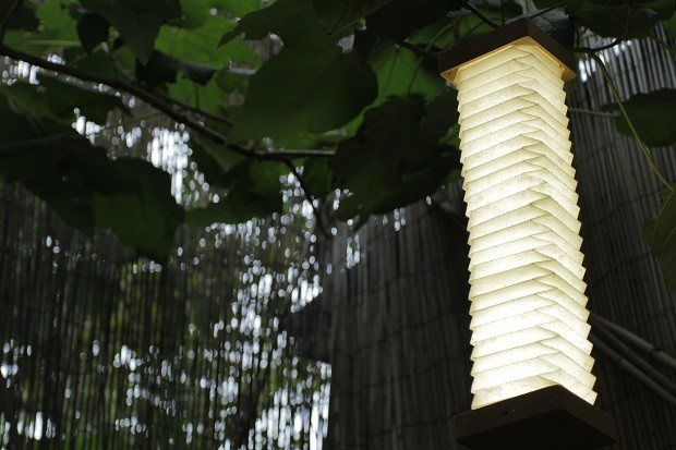 The Orilamp can be used outside like a lantern