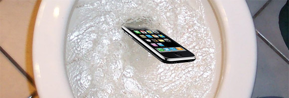 Dropping phone down toilet most common way to break it, among 18-24 year olds - ShinyShiny